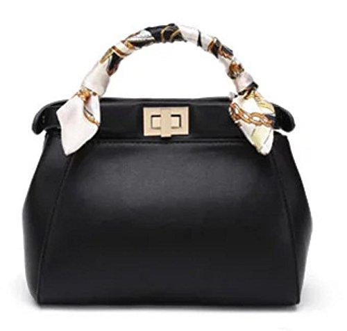 GQQ NUOVE borse a tracolla borse moda PU Dacron per Shopping Party e sul posto di lavoro fino a 5 L GQ borsa @ , black