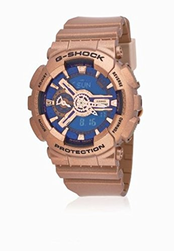 Casio G-Shock G-Series Blue Dial Gold Tone Quartz Women's Watch GMAS110GD-2A