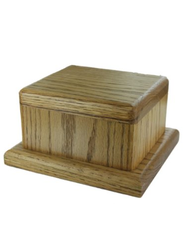Handcrafted Pet Cremation Urn Solid Oak Hardwood
