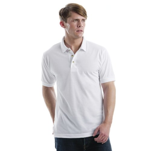 Xpres Mens Subli Plus Short Sleeve Polo Shirt (2XL) (White)