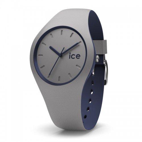 ICE-Watch - 012974 - Duo - Montre Homme - Chronomètre - Cadran Gris - Bracelet Silicone Gris