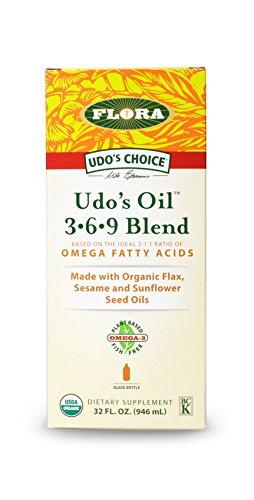 Udo's Choice Oil  3.6.9  Blend 32-Ounce Glass Bottle