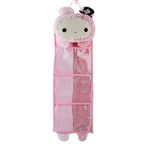 Leegoal Wall Hanging Storage Bag 3 Pockets 3 Designs (rabbit)