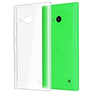 Halowishes Ultra Thin Crystal Clear Transparent Hard Case Back Cover for NOKIA LUMIA 730 DUAL SIM