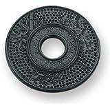 Old Dutch 008MB 5.5 Inch Round Matte Black Cast Iron Hobnail Trivet