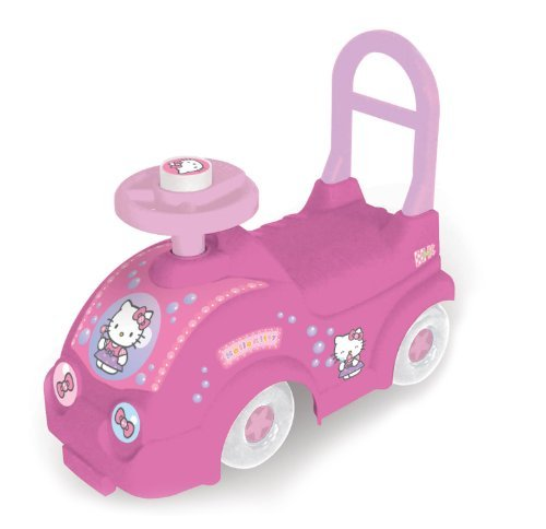 HELLO-KITTY-Kids-Ride-on-Car-with-Push-Bar-by-Hello-kitty