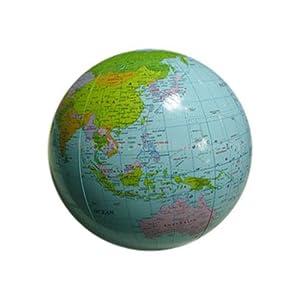 HAB & GUT (EB001) Aufblasbarer Globus (geprüfte Qualität) Wasserball, Phthalate-frei Ø 30 cm