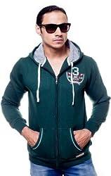 Unicott Full sleeves Green printed Men's Sweatshirt (M) (Medium)