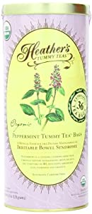 Heather's Tummy Teas Organic Peppermint Tea Bags, 4.2 oz (36 Jumbo Teabags) for IBS