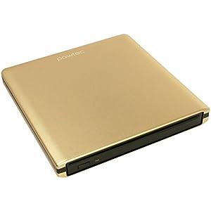 Pawtec Luxury Slim External Aluminum Slot-Loading BDXL Blu-Ray Writer / Burner - Gold Edition
