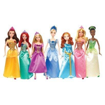 Mattel Maxi Super Pack 7 x Disney Prinzessinnen – Edition 2013 – mit Belle, Ariel, Rapunzel, Cinderella, Merida, Sleeping Beauty, Tiana günstig bestellen