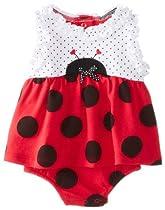 Vitamins Baby Baby-Girls Newborn Little Ladybug Toddler Sunsuit, Red, 9 Months