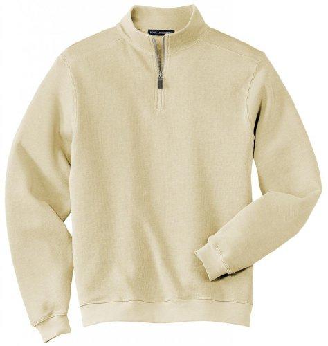 Port Authority®- Flatback Rib 1/4-Zip Pullover, Ivory, XL