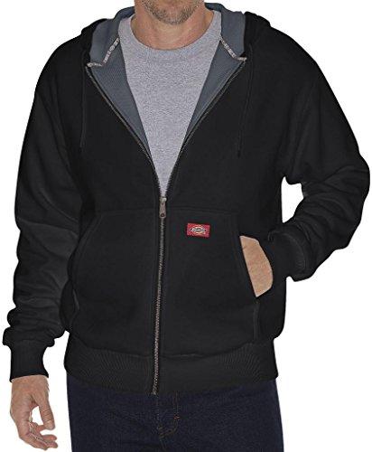 Dickies Tall Men's Full Zip Fleece Hoodie Thermal Lined Jacket Black 3XLT #943 (Dickies Thermal Hoodie compare prices)