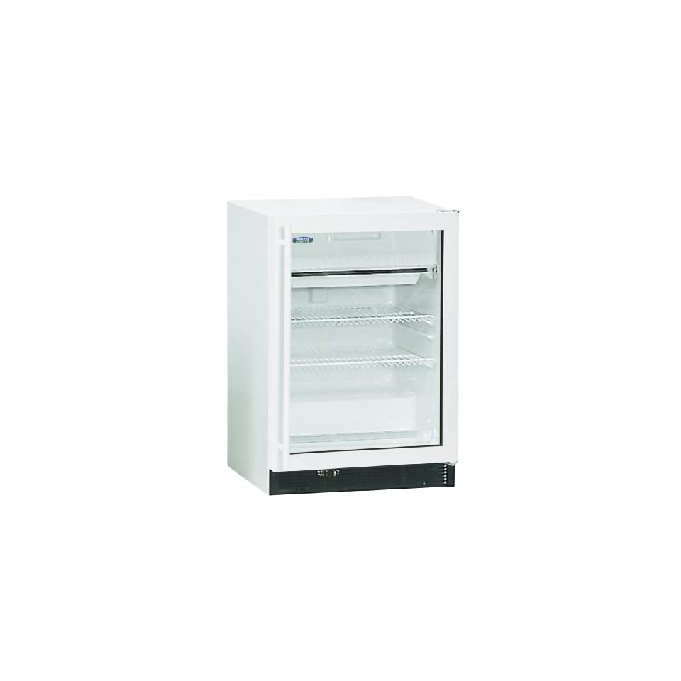 Marvel Scientific 6CARFM104 General Purpose Laboratory Grade Under-Counter Refrigerator with Right Hinge Glass Door with White Frame and White Cabinet
