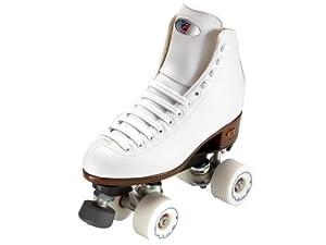 Riedell Angel White Womens Quad Artistic Roller Skates - Art Skates