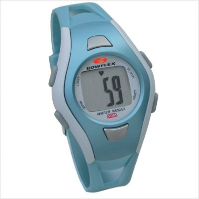 Bowflex Fit Watch 10S Strapless Heart Rate Monitor Watch with Calorie Counter (Blue)