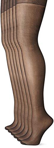 b6bdc88685093 No Nonsense Women's Reinforced Toe Pantyhose 6-Pack - Import It All