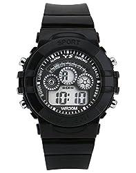 KUSHAGRA Black Dial Digital Sport Watch