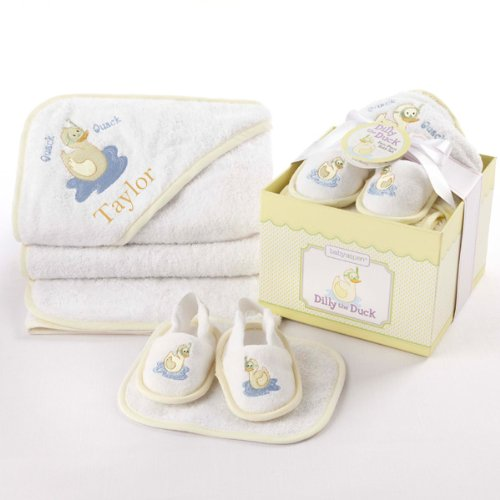 Baby Aspen - Dilly the Duck 4-Piece Bathtime Gift Set