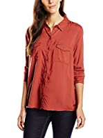 Tom Tailor Denim Camisa Mujer Bluse loose viscose blouse/511 (Rojo)