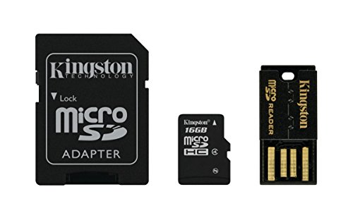 Kingston Mobility Kit Scheda micro-SDHC/SDXC 16GB Classe 4, con Adattatore SD e USB