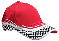 Blank Hat Racing Flare Ball Cap in Red and White