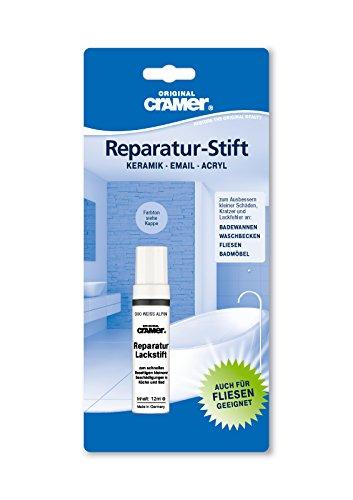 Lackstift für Sanitär (weiß alpin). Einkomponenten-Speziallack für Kratzer und Lackfehler im Haushalt