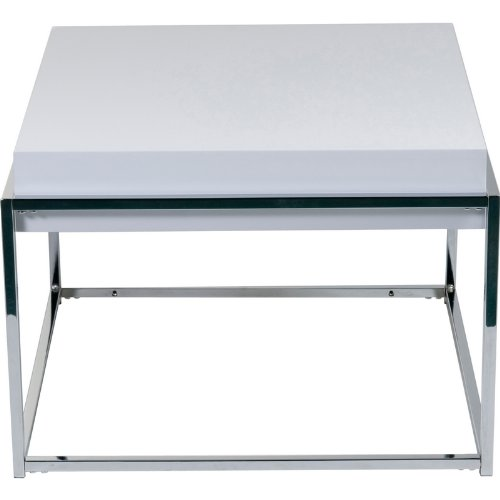Image of Eurostyle Modern Greta End Table in White Lacquer & Chrome (B0062PM9N8)