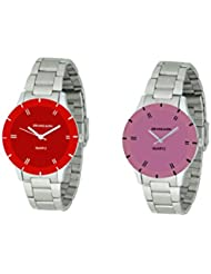 Grandson Red And Pink Casual Analog Watch For Girls And Women