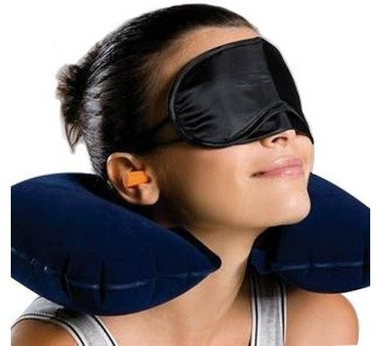 Neck Pillow for Travel. Inflatable for Airplanes, Cars, Home. Compact size before inflation. U-Shaped Travel Pillow Comes with Eye Cover Sleep Mask! Your Satisfaction Guaranteed 100%!