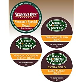 Green Mountain DECAF Variety Sampler 4 Boxes of 22 K-Cups: Office Products