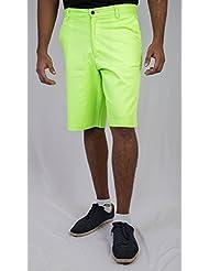 Bright Green Cotton Men Shorts