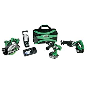 Hitachi KC18DBL 4-Tool Lithium-Ion Combo Kit