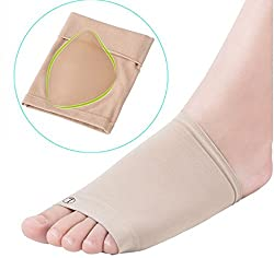 Sparsh 4.0 Flat Feet Cushion Sleeves with Functional Gel Foot Support Foot Shoe size EU= 6 to 12, US= 38-44