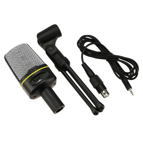 Muchbuy New Professional Podcast Studio Microphone W/ Stand Skype Webcast Youtube Video