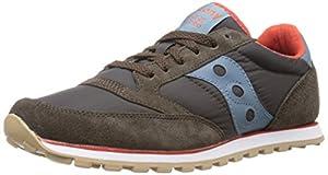 Saucony Originals Men's Jazz Low Pro Sneaker,Brown/Blue,10 M US