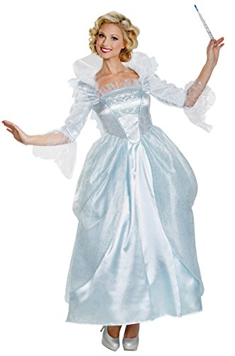 Disguise Women's Fairy Godmother Movie Adult Prestige Costume, Blue, Large
