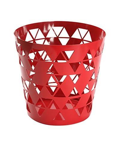 Mimma Papelera Polygon Rojo