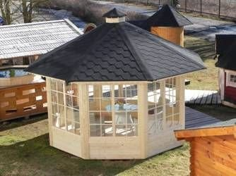 JUNIT Garten- Pavillon Deluxe 10m² ohne Grill Gartenpavillon Partyhaus günstig online kaufen