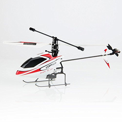 New BNF Helicopter 2.4GHz V911 Pro 4Channel Radio Remote Control Heli Red/White
