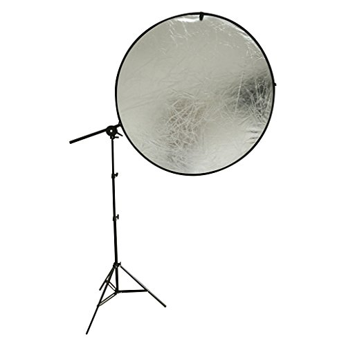 撮影機材 レフ板ホルダー +スタンドセット レフ板 伸縮式固定ホルダー ライトディスクホルダー モデル、人物、アパレル、など撮影のレフ板のスタンド固定に!