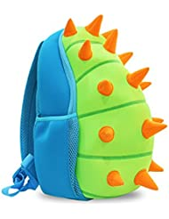 Gift For Boys And Girls-3D Cute Dinosaur Kids Toddler Backpack School Sidesick Nursery Bags(Blue),9.4*7.5*12.8...