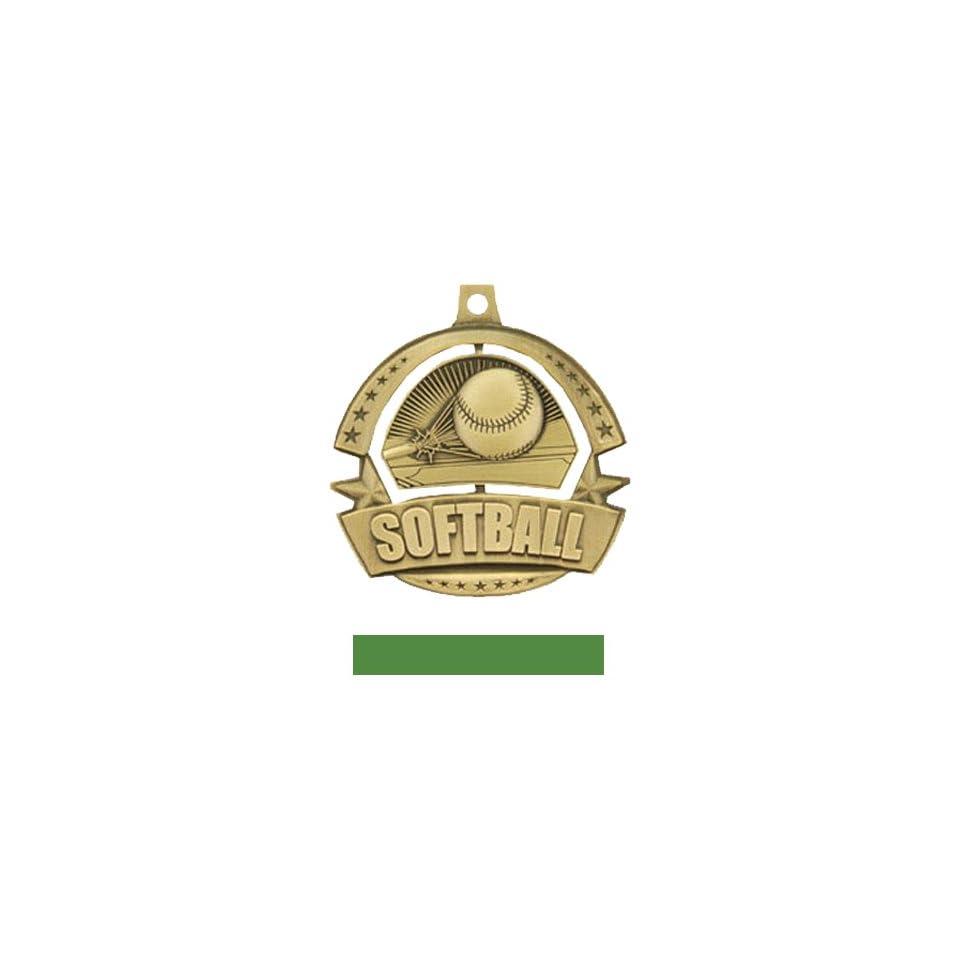 Custom Hasty Awards Spinner Softball Medals M 720 GOLD MEDAL