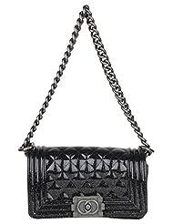 Amatra Synthetic Sling Bag (Black) - B01BOQ5MWO