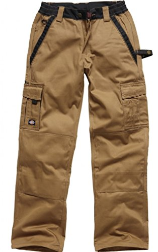 Dickies, IN30030, Pantaloni Industria 300 cachi / KBK44 nero