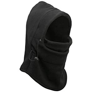 Sportty 6 in 1 Thermal Fleece Balaclava Hood Police Swat Ski Bike Wind Stopper Mask