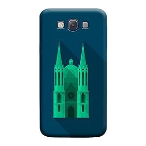 Desicase Samsung A7 UI Desgin 3D Matte Finishing Printed Designer Hard Back Case Cover (Green)