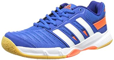 adidas Court Stabil 10.1 Q35129, Herren Handballschuhe, Blau (Blue Beauty F10 / Running White Ftw / Infrared), EU 40 2/3 (UK 7)