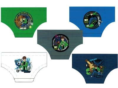 Boys BEN 10 Character Cotton Briefs Underwear in 5 Brief Pack in sizes To fit Ages from 3 years to 10 Years
